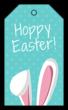 """""""Hoppy Easter!"""" Easter Cardstock Gift Tags"""
