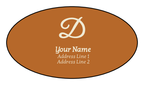 "OL894 - 3.25"" x 2"" Oval - Modern Monogram Address Labels"