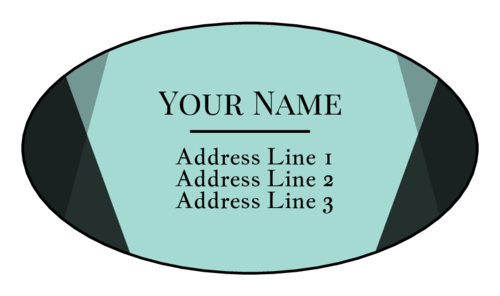 "OL9830 - 2.5"" x 1.375"" Oval - Geometric Modern Address Labels"