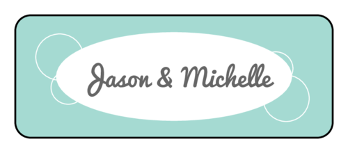 Retro Wedding Envelope Seals (Round Corner Rectangle)