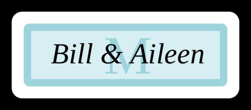 Chesapeake Wedding Envelope Seal Labels (Round Corner Rectangle)