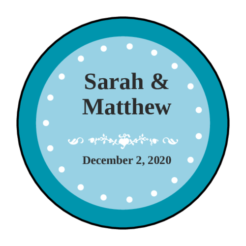 Colonial Wedding Envelope Seal Labels (Circle)