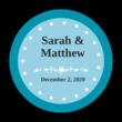 Colonial Wedding Envelope Seal Labels