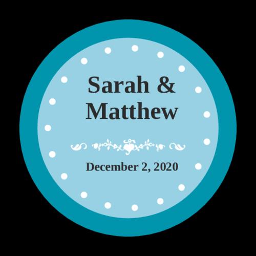 Colonial Wedding Envelope Seal Labels (Circle)