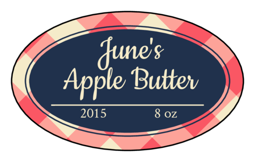 Picnic Jar Labels (Oval)