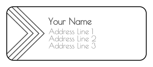 Pointed Address Labels (Round Corner Rectangle)