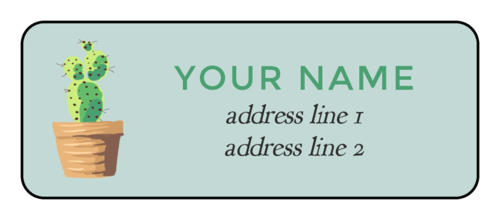 Cactus Address Labels (Round Corner Rectangle)