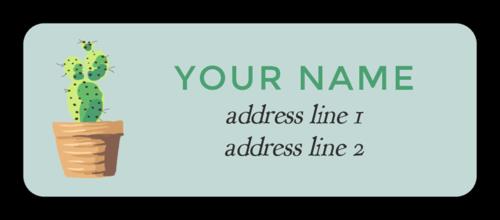 Cactus Address Labels (Round Corner Rectangle)