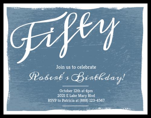 """OL423 - 4.25"""" x 5.5""""  - Vintage Cardstock Birthday Invite"""