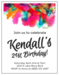 Watercolor Cardstock Birthday Invites