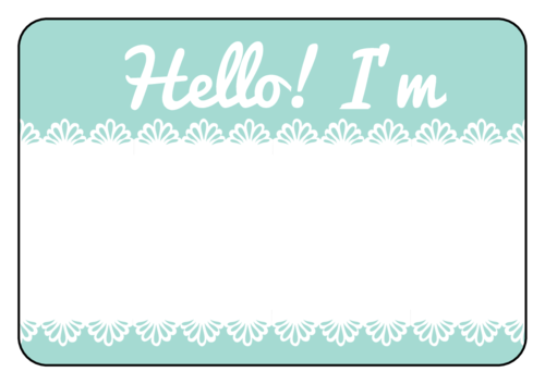 image relating to Printable Name Labels titled Lace Standing Tag Labels Templates -