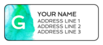 Watercolor Monogram Address Labels