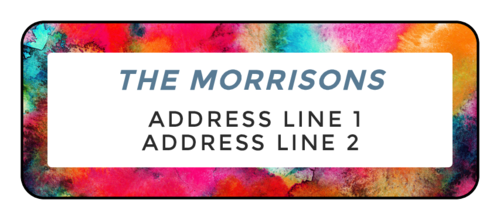 Painterly Address Labels (Round Corner Rectangle)