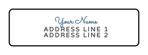 Cursive Return Address Labels (Round Corner Rectangle)