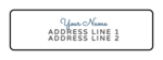 Cursive Return Address Labels