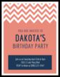 Chevron Cardstock Birthday Party Invitations