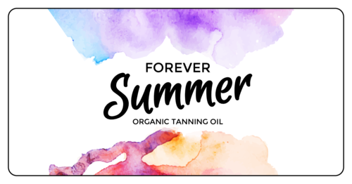 """Forever Summer"" Bath and Body Labels pre-designed label template for OL9350"