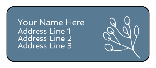 Cape Cod Address Labels (Round Corner Rectangle)