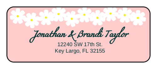 Spring Flowers Address Labels (Round Corner Rectangle)