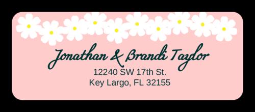 Spring Flowers Address Labels (Round Corner Rectangle)