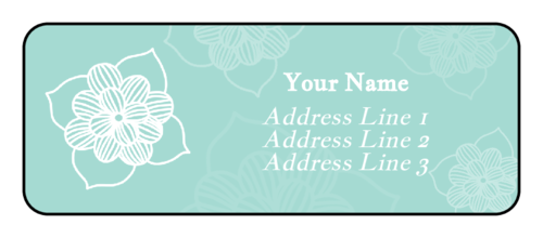 Sketched Floral Address Labels (Round Corner Rectangle)