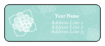 Sketched Floral Address Labels