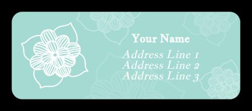 Sketched Floral Address Labels (Round Corner Rectangle)