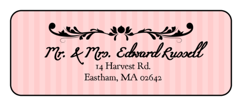 Madison Avenue Address Labels (Round Corner Rectangle)