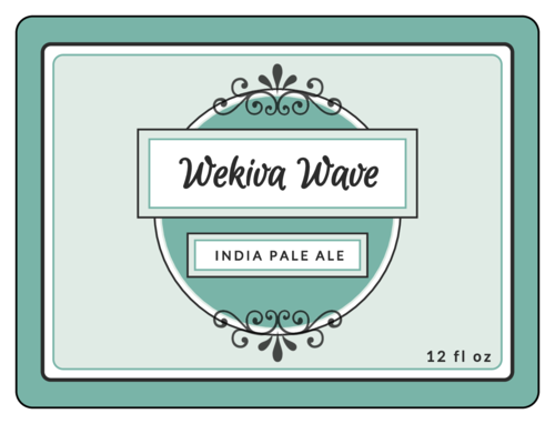 "OL500 - 4"" x 3"" - Wekiva Wave Beer Bottle Labels"