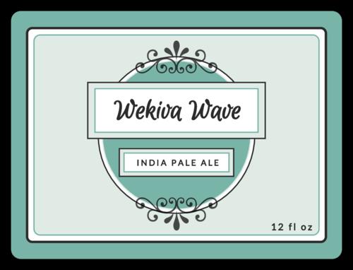 Wekiva Wave Beer Bottle Labels (Round Corner Rectangle)