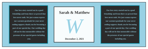 Colonial Wedding Water Bottle Labels (Square Corner Rectangle)