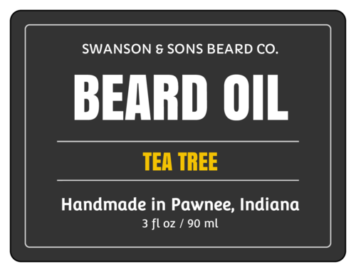 "OL500 - 4"" x 3"" - Beard Oil Cosmetic Labels"
