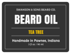 Beard Oil Cosmetic Labels