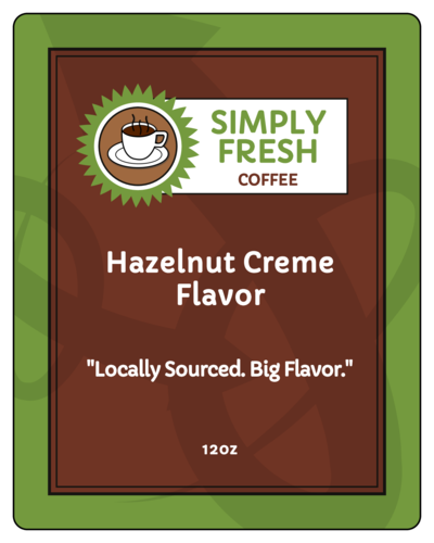 Earthy Coffee Bag Labels (Round Corner Rectangle)