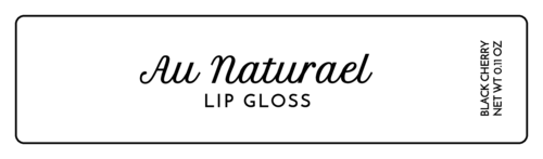Luxury Lip Gloss Labels (Round Corner Rectangle)