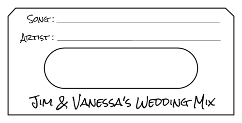 "OL275 - 3.5"" x 1.6562"" - Wedding Song Request Card"