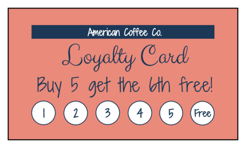 "OL244 - 3.5"" x 2"" - Simple Loyalty Card"