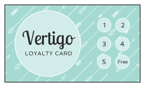 "OL244 - 3.5"" x 2"" - Cardstock Loyalty Stamp Card"