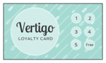 Cardstock Loyalty Stamp Card