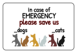 Pet Emergency Labels