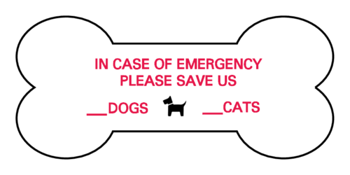 "OL193 - 2.3852"" x 1.0671"" - Pet Emergency Dog Bone Labels"