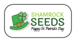 """Shamrock Seeds"" St. Patrick's Day Favor Labels"