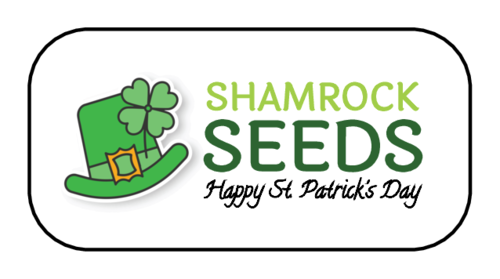 "OL2083 - 1.875"" x .9375"" - ""Shamrock Seeds"" St. Patrick's Day Favor Labels"