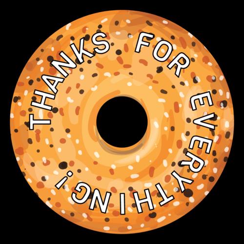 Everything Bagel Thank You Favor Labels pre-designed label template for OL5600