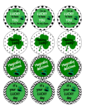 St Patrick's Day Stickers