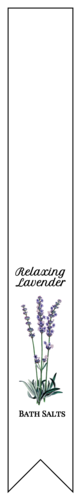 "OL1758 - 7.5"" x 1"" - Lavender Bath Salt Labels"
