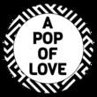 """A Pop of Love"" Popcorn Favor Labels"