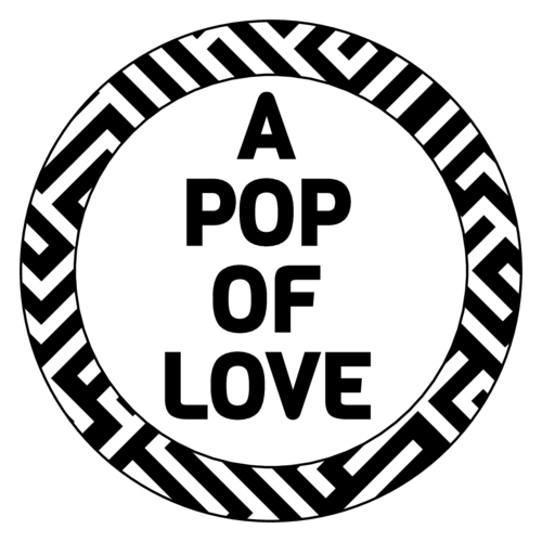 "OL1025 - 1"" Circle - ""A Pop of Love"" Popcorn Favor Labels"