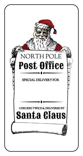 "OL125 - 4"" x 2"" - Santa Delivery Gift Labels"