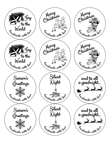 "OL350 - 2.5"" Circle - Christmas Gift Favor Labels"